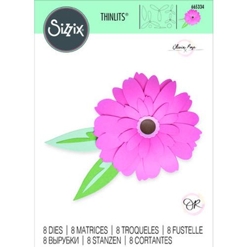 Sizzix: Thinlits Die Set, Gerbera Flower(8piece)