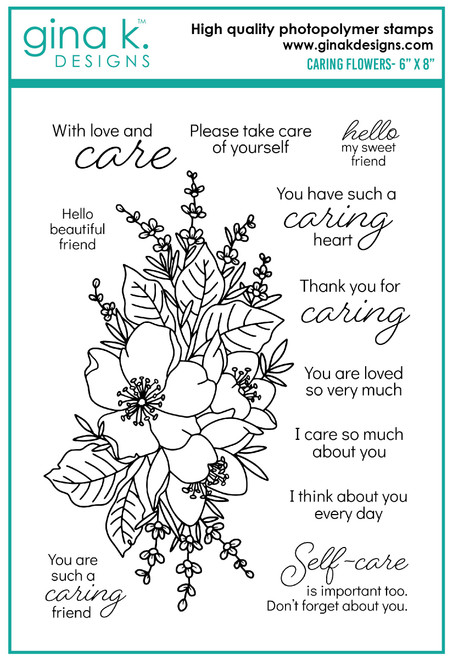 Gina K Designs: Clear Stamp Set, Caring Flowers