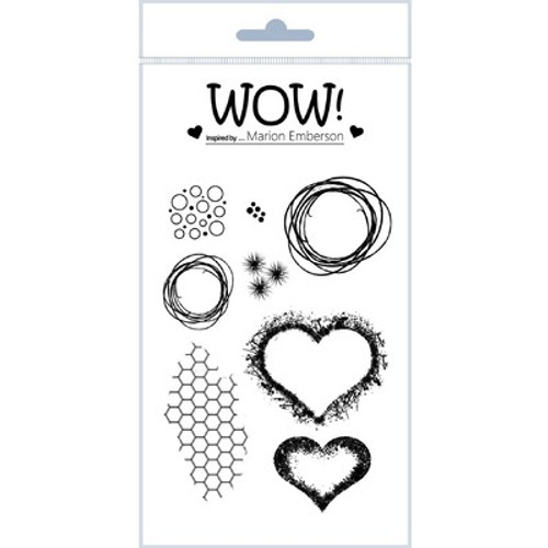WOW!: Clear Stamp Set, Hearts and Twine
