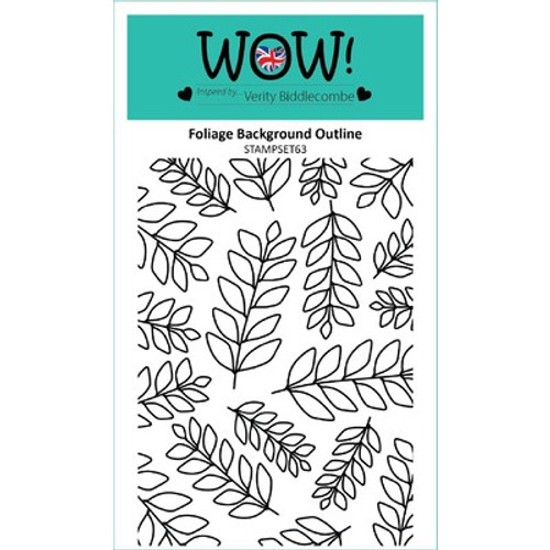 WOW!: Clear Stamp Set, Foliage Background Outline