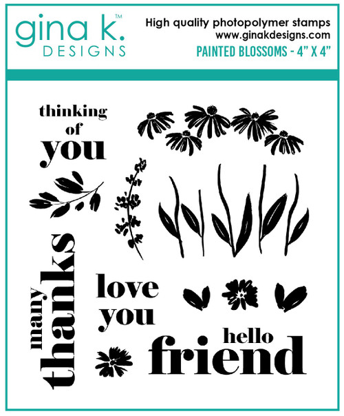 Gina K Designs: Clear Stamp, Painted Blossoms