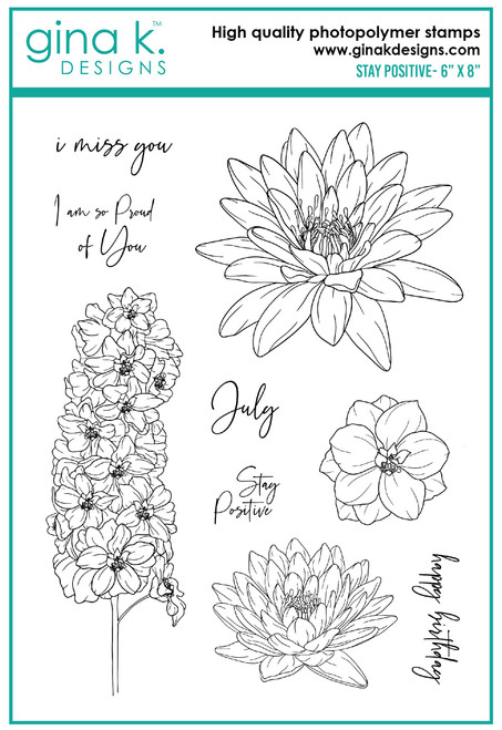 Gina K Designs: Clear Stamp, Stay Positive