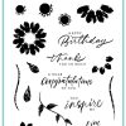 Gina K Designs: Clear Stamp, Sketched Flowers