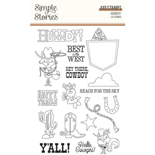 Simple Stories: Clear Stamp, Howdy!