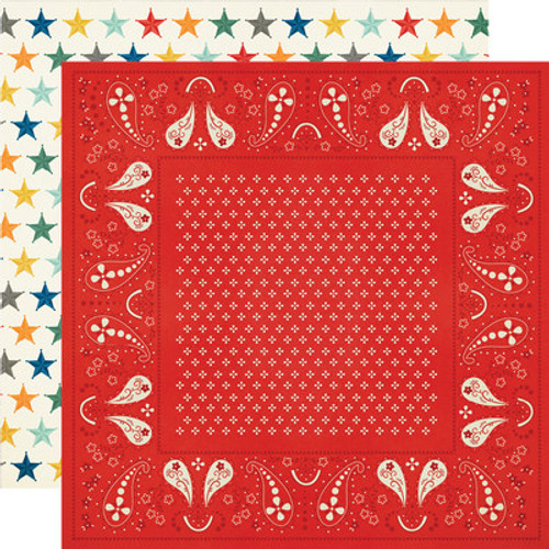 Simple Stories: 12x12 Patterned Paper, Howdy!- Happy Trails