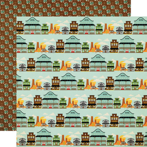 Simple Stories: 12x12 Patterned Paper, Howdy!- Wild, Wild West