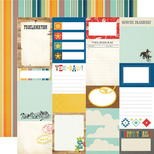 Simple Stories: 12x12 Patterned Paper, Howdy!- Journal Elements