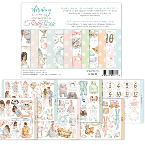 Mintay: Elements Book - 6x8 Baby Book