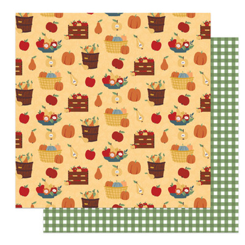 Photo Play Paper: Patterned Paper, Autumn Greetings - Fruit Baskets