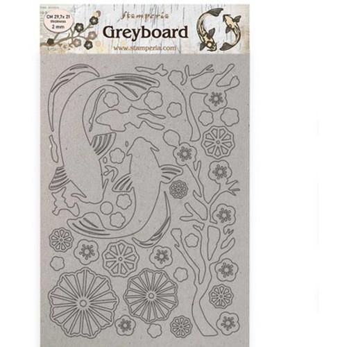 Stamperia: A4 Greyboard Sir Vagabond in Japan - Fish