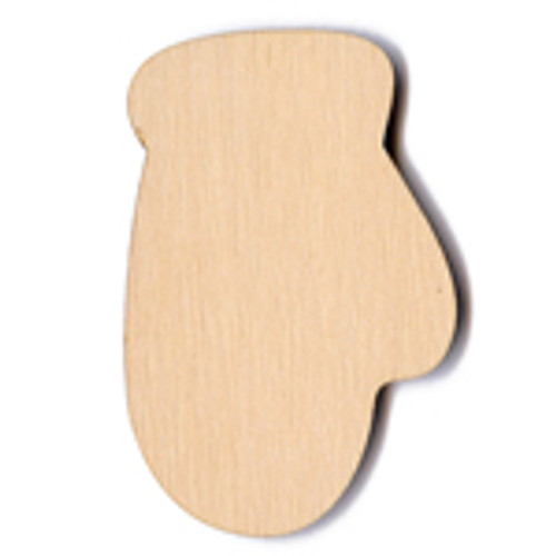 """The Paper & Ink Boutique: Laser Cut Wood  Mitten - 2.5"""""""