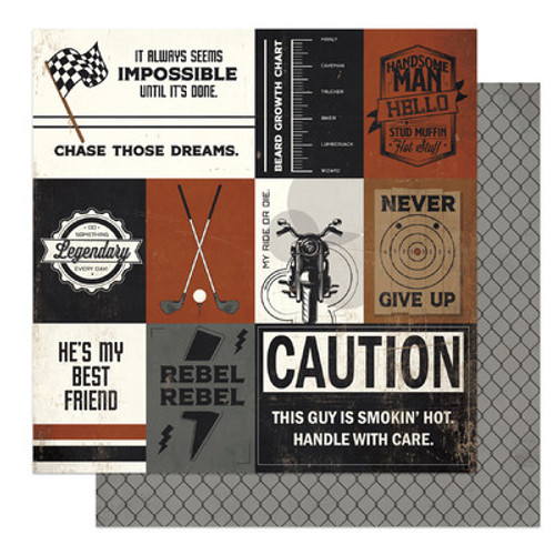 Photo Play Paper: 12X12 Patterned Paper, Grease Monkey, Rebel