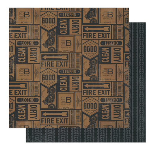 Photo Play Paper: 12X12 Patterned Paper, Grease Monkey, Legend