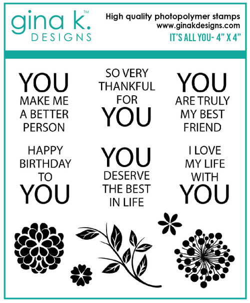 Gina K Designs: Clear Mini Stamp, It's All You