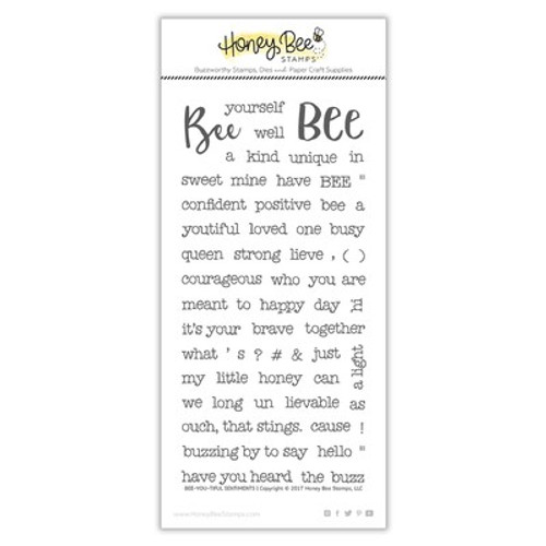 Honey Bee Stamps: Clear Stamp, Bee-You-Tiful Sentiments