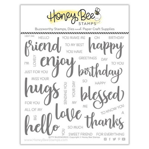 Honey Bee Stamps: Clear Stamp, Bitty Buzzwords