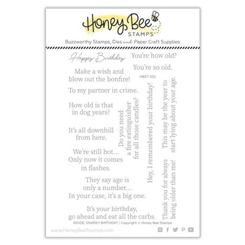 Honey Bee Stamps: Clear Stamp, Inside: Snarky Birthday Sentiments