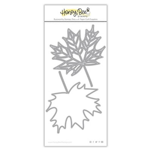 Honey Bee Stamps: Die, Lovely Layers: Maple Leaf