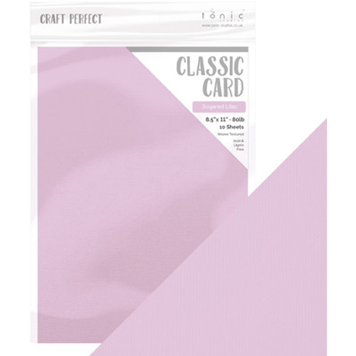 Tonic Studios: 8.5X11 Pearlescent Cardstock, Sugared Lilac