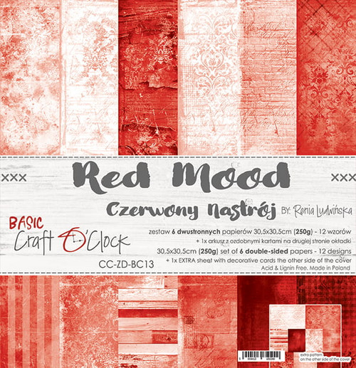 Craft o'Clock: 12x12 Paper Pack, Red Mood