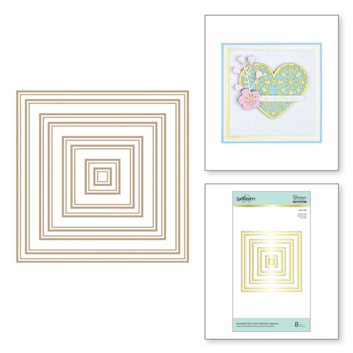 Spellbinders: Essential Duo Lines Glimmer Squares