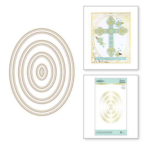Spellbinders: Essential Duo Lines, Glimmer Ovals