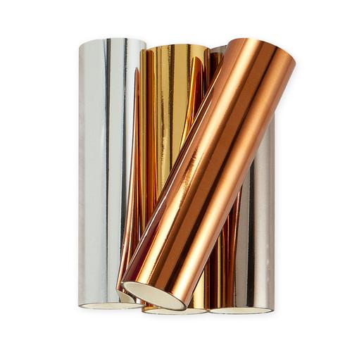 Spellbinders: Glimmer Hot Foil 4 Rolls - Essential Metallics