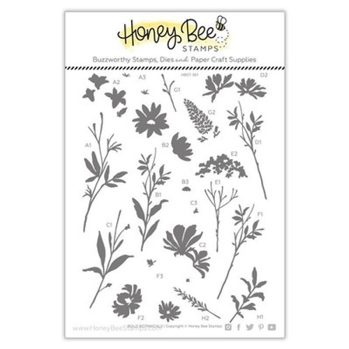 Honey Bee Stamps: Clear Stamp,  Bold Botanicals