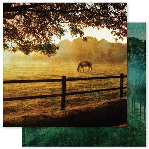 Paper Rose: 12X12 Patterned Paper, Grunge Landscapes 1.0 D