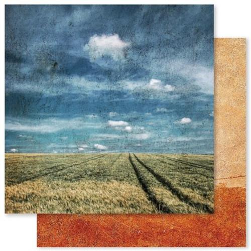 Paper Rose: 12X12 Patterned Paper, Grunge Landscapes F