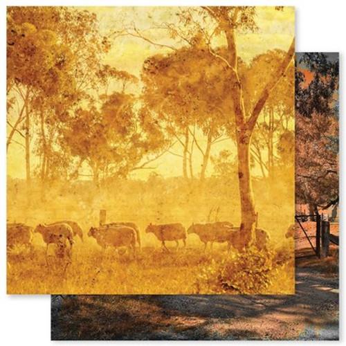 Paper Rose: 12X12 Patterned Paper, Grunge Landscapes 1.0 A