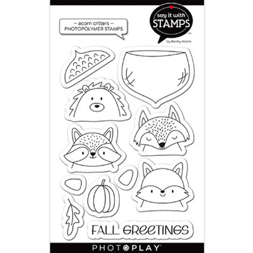 Photo Play Paper: Clear Stamp, Say it With Stamps - Acorn Critters