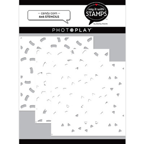 Photo Play Paper: Stencils, Candy Corns (3Pack)