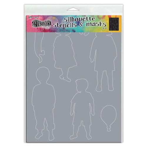 Dyan Reaveley: Dylusions Stencil Silhouette, Grandkids