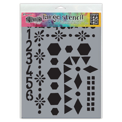 Dyan Reaveley: Dylusions Stencil, Large - Number Frame