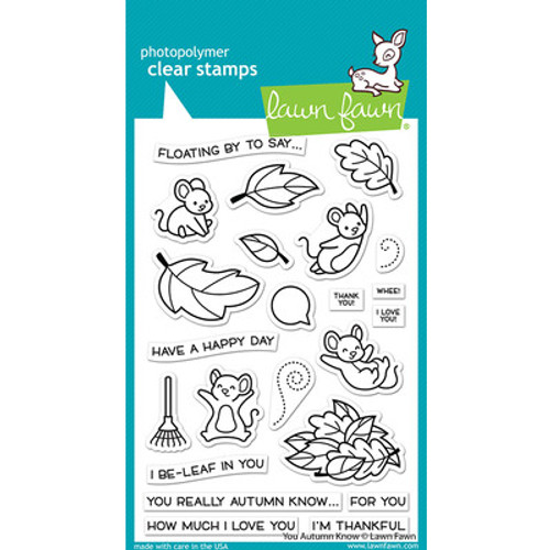 Lawn Fawn: Clear Stamp, You Autumn Know