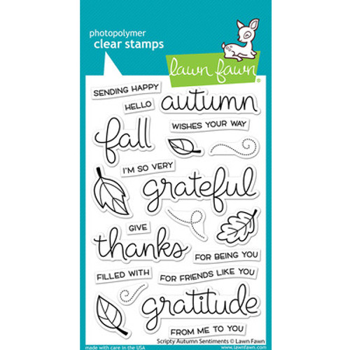 Lawn Fawn: Clear Stamp, Scripty Autumn sentiments