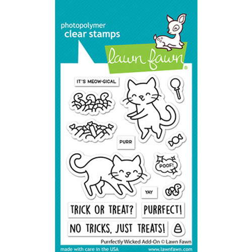 Lawn Fawn: Clear Stamp, Purrfectly wicked Add-on