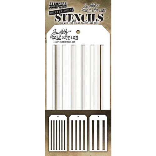 Tim Holtz: Layering Stencil, Shifter Multi Stripes (3pc)