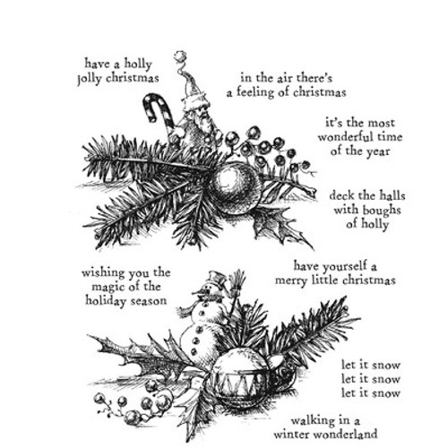 Tim Holtz: Cling Stamp, Cozy Christmas