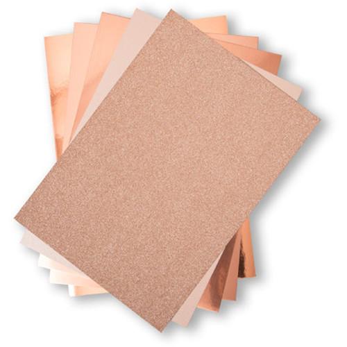 Sizzix: Surfacez 8.5x11 Opulent Cardstock Pack, Rose Gold