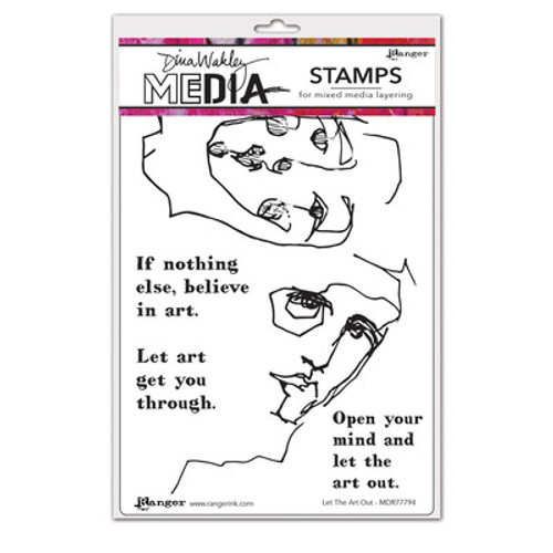 Ranger: Dina Wakely MEdia: Cling Stamp,  Let The Art Out