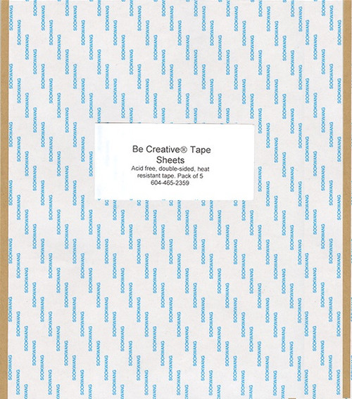 Be Creative: Tape Sheets, 5 Pack