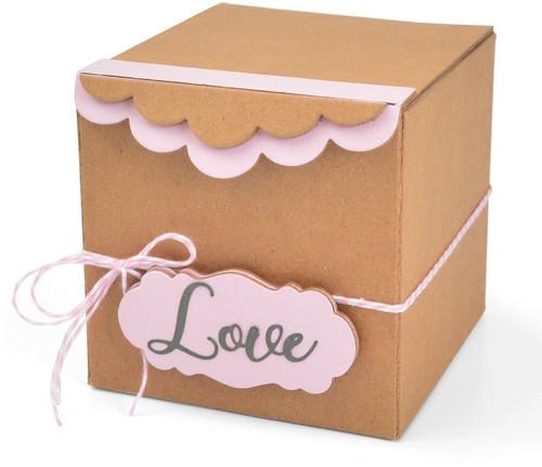 Sizzix: ScoreBoards XL Die, Box - Gift w/Scallop Edges & Label