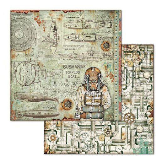 "Stamperia: 12""X12"" Patterned Paper, Sea World: Sea Diver"