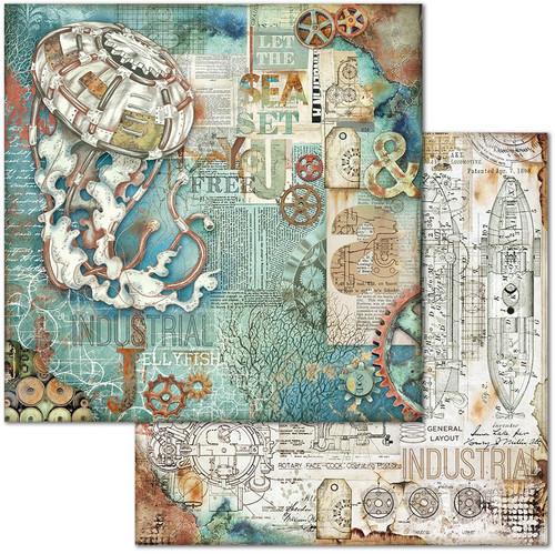 "Stamperia: 12""X12"" Patterned Paper, Sea World: Medusa"
