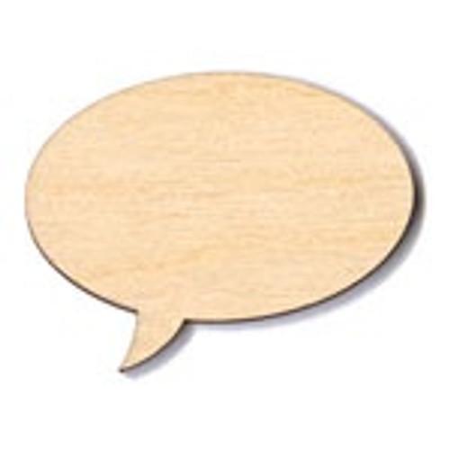 """The Paper & Ink Boutique: Laser Cut Wood Speech Bubble 2 -1/2"""" x 1- 5/8"""""""