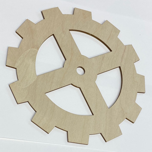 "The Paper & Ink Boutique: Wooden Gear, Laser Cut  8"" Diameter"