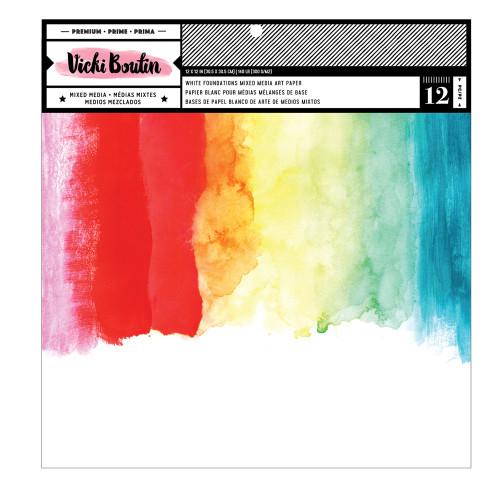 Vicki Boutin: 12x12 Foundations Mixed Media Art Paper, White 140lb(12 Sheets)