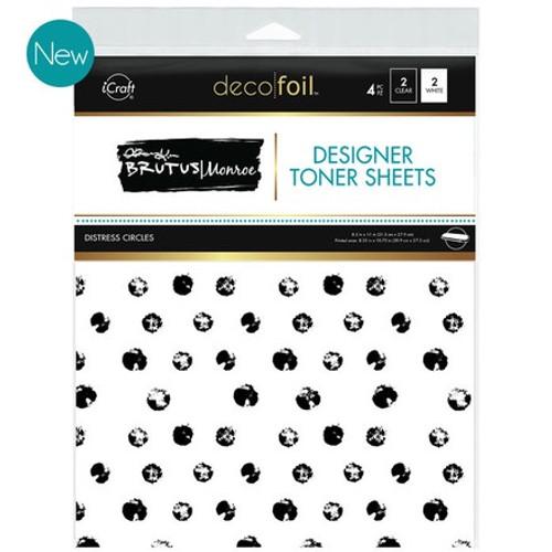 Brutus Monroe: Deco Foil Toner Sheets, Distress Circles